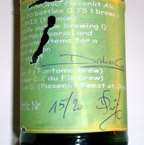 Fantôme Pissenlit back label autographed #15 of 20